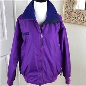 Columbia Jacket Purple Blue Light Ski Snowboard S